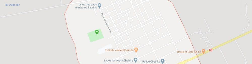 Map - where to find Chebika