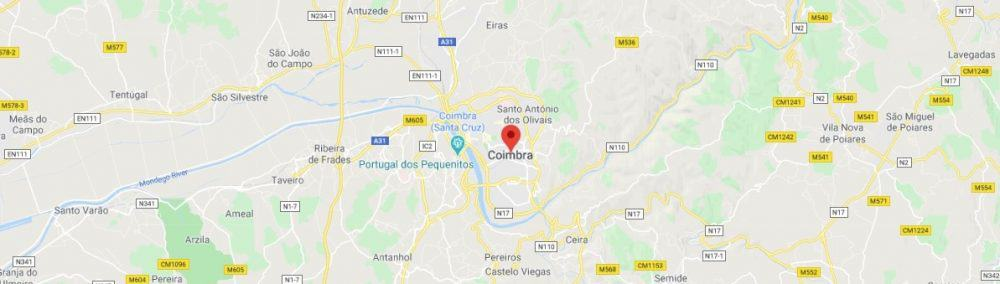 Map - where to find Coimbra