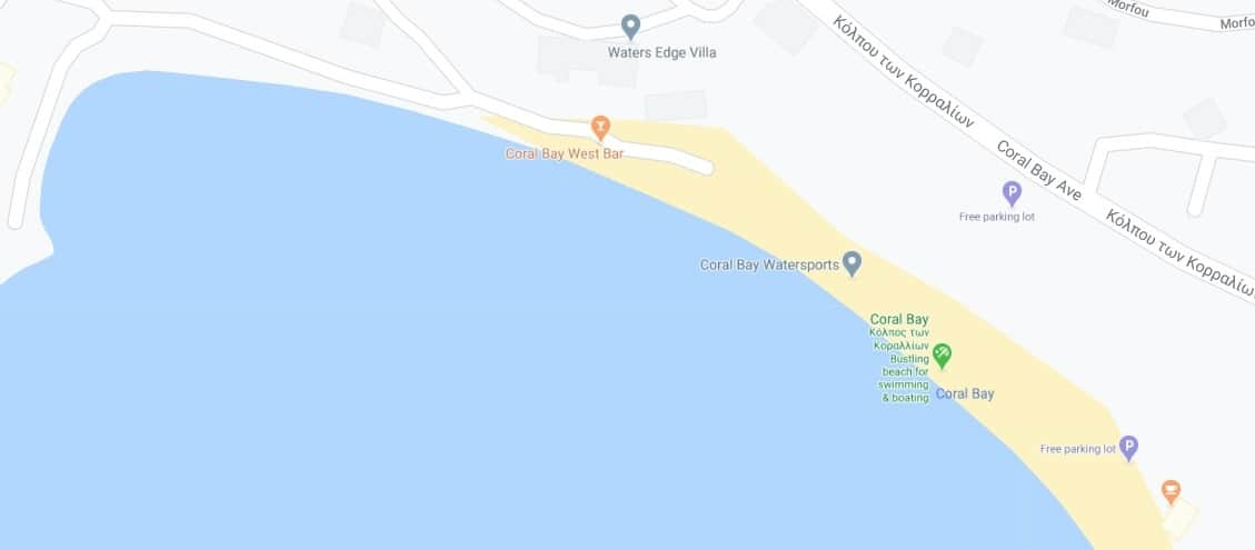 Where to find Coral Bay