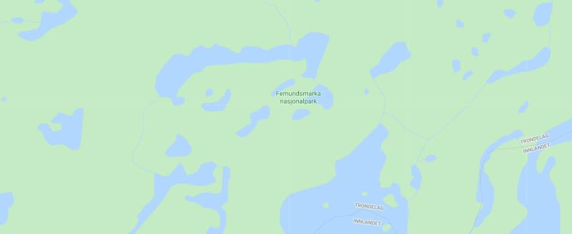 Map - where to find Femundsmarka National Park