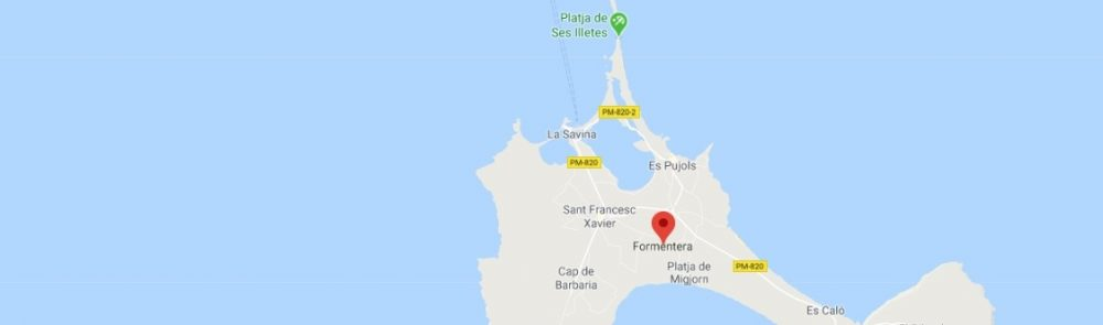 Map - where to find Formentera in Spain
