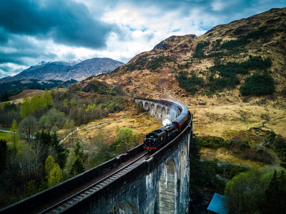 Glenfinnan Viaduct - great places to visit in Scotland