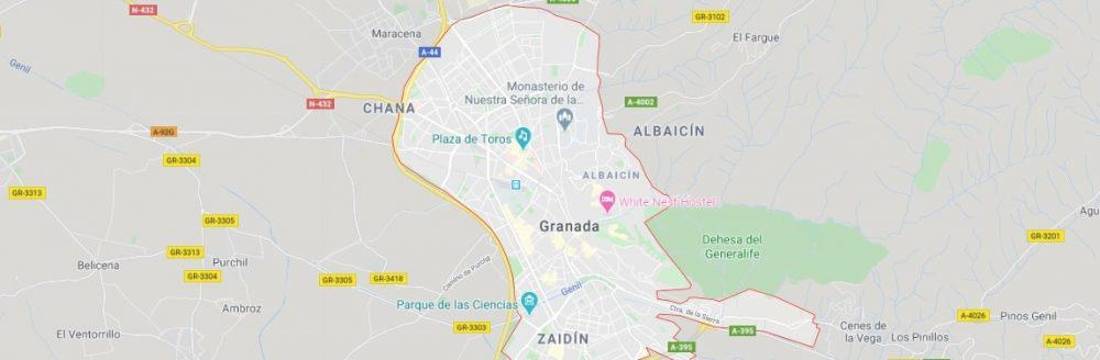 Map - where to find Granada in Spain