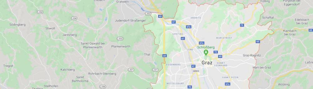 Maps - where to find Graz Austria