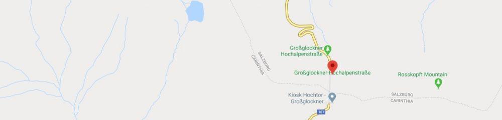 Map - where to find Grossglockner Alpine Road Austria