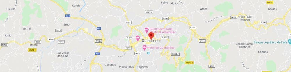 Map - where to find Guimaraes