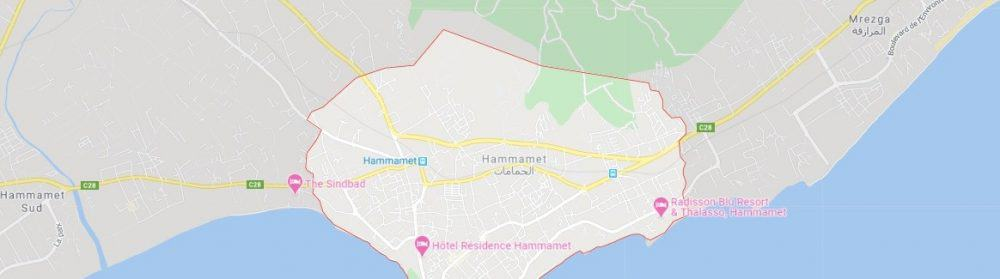 Map - where to find Hammamet