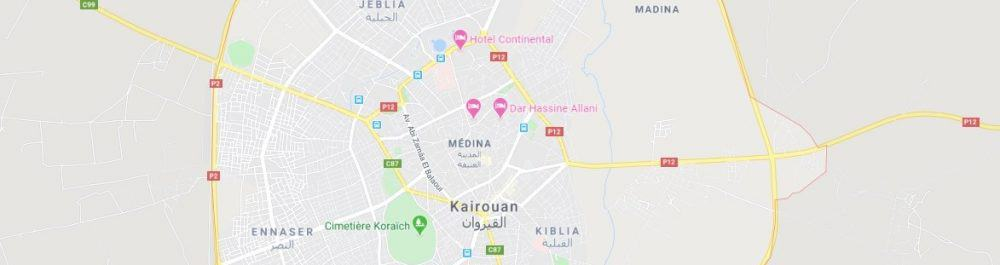 Map - where to find Kairouan
