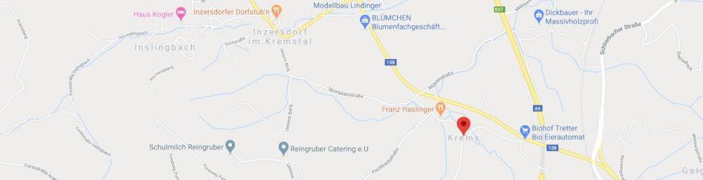 Map - where to find Krems Austria