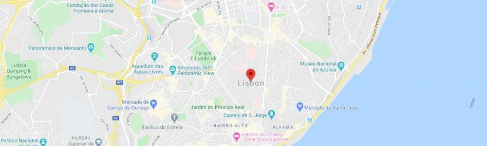 Map - where to find Lisbon