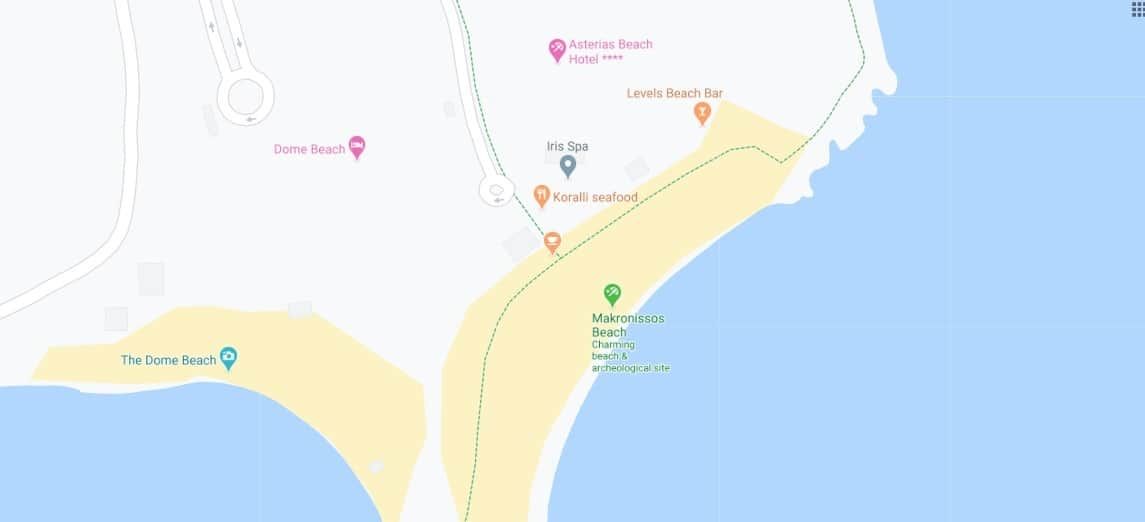 Where to find Makronissos Beach