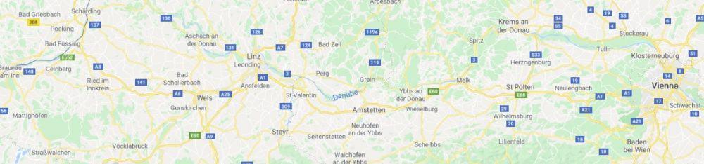Map - where to find Mostviertel Austria