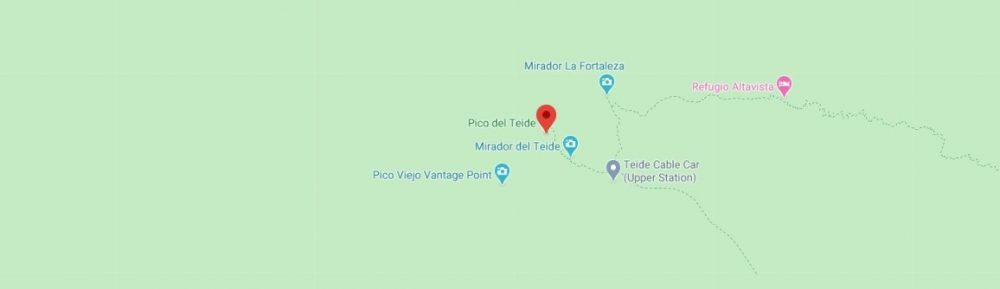 Map - where to find Mount Teide in Spain