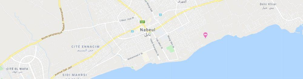 Map - where to find Nabeul