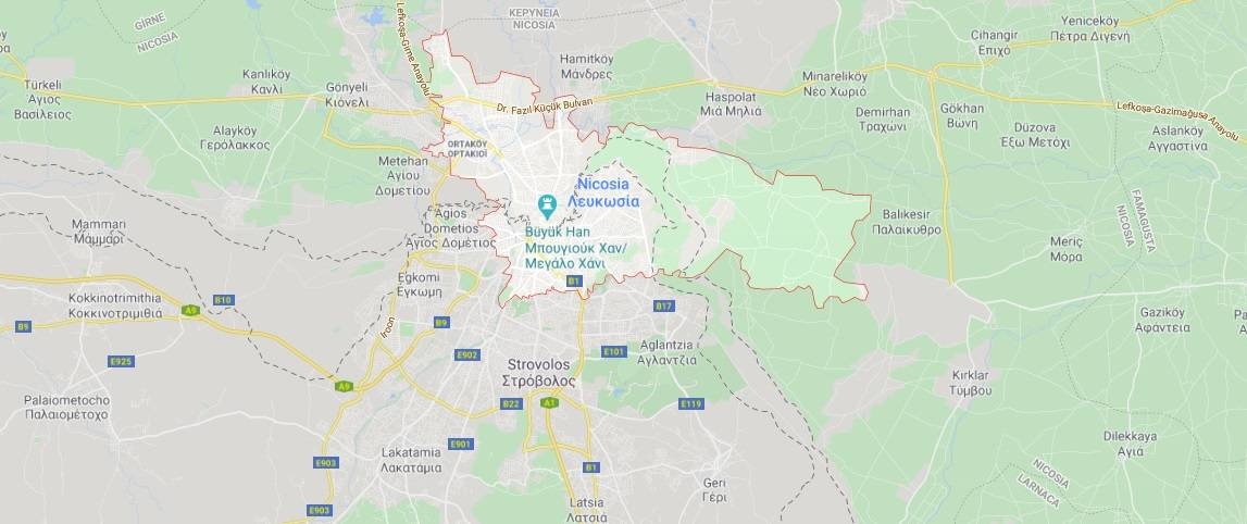 Where to find Nicosia City in Cyprus