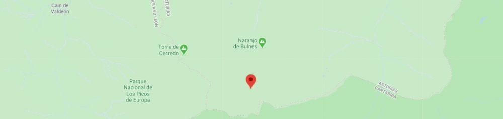 Map - where to find Picos de Europa