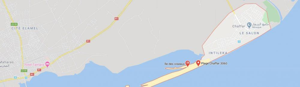 Map - where to find Plage de Chaffar (Sfax)