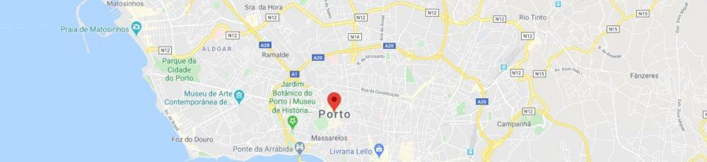 Map - where to find Porto