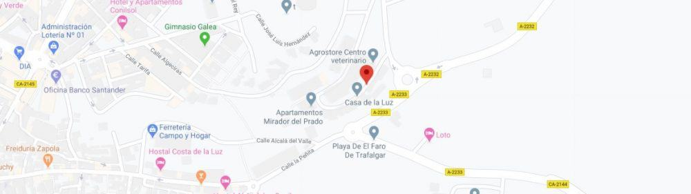 Map - where to find Pueblos Blancos in Spain