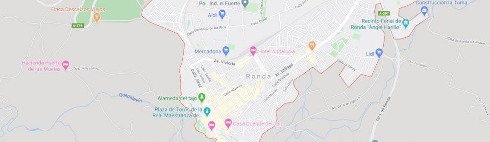Map - where to find Ronda in Spain