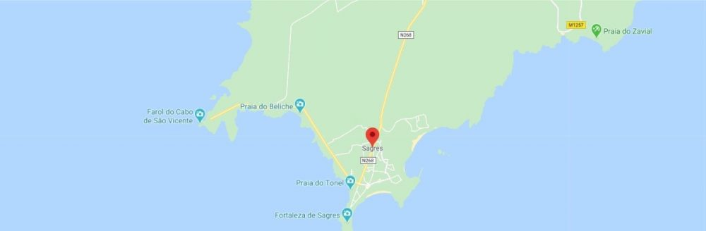 Map - where to find Sagres