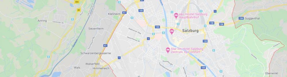 Map - where to find Salzburg