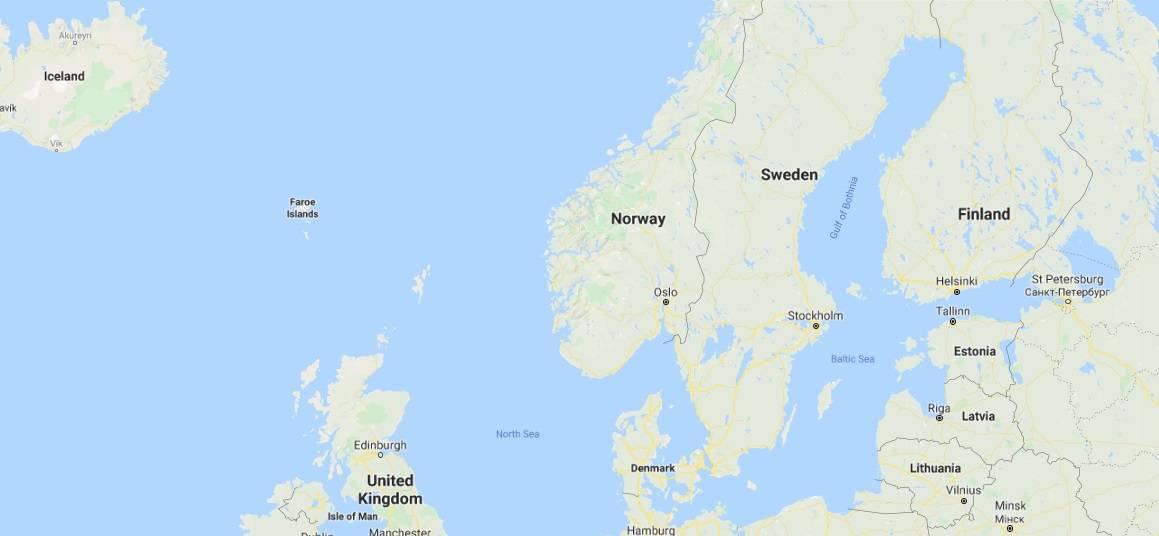 Map - where to find Solund, Sogn og Fjordane