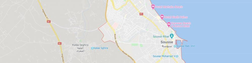Map - where to find Sousse