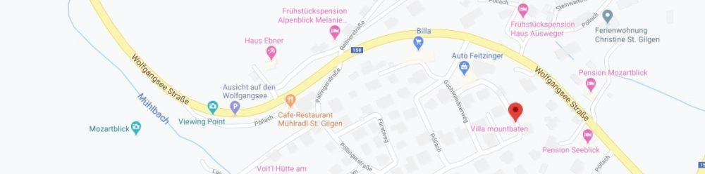 Map - where to find St. Gilgen Austria