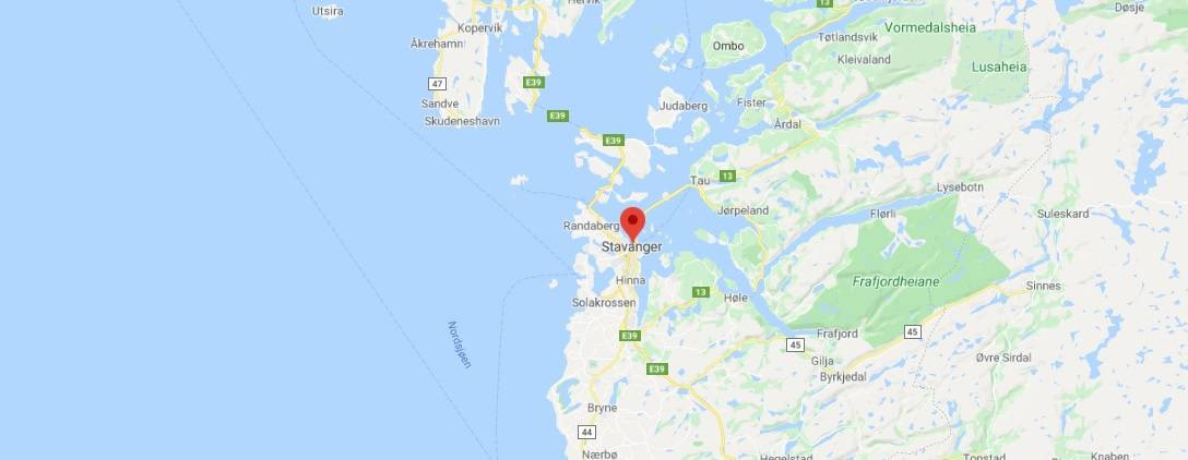 Map - where to find Stavanger