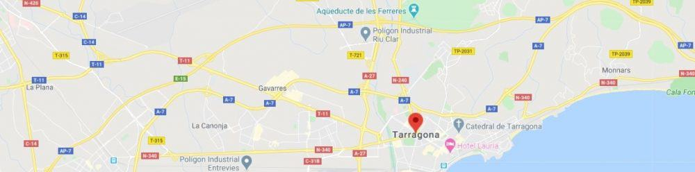Map - where to find Tarragona Spain
