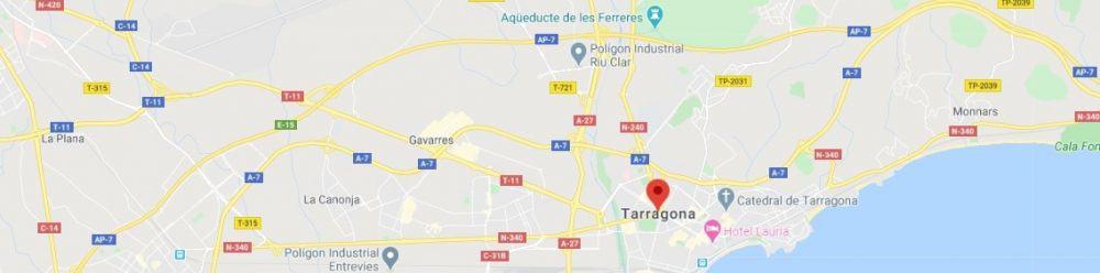 Map - where to find Tarragona Spain