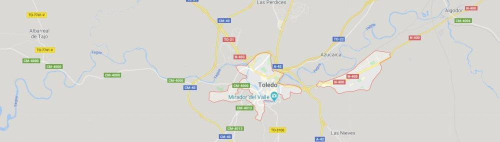 Map - where to find Toledo in Spain