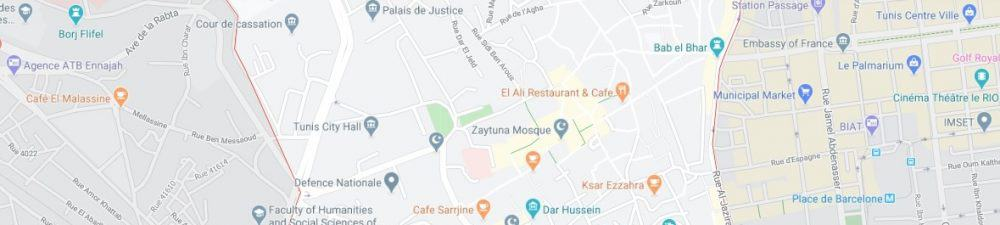 Map - where to find Tunis