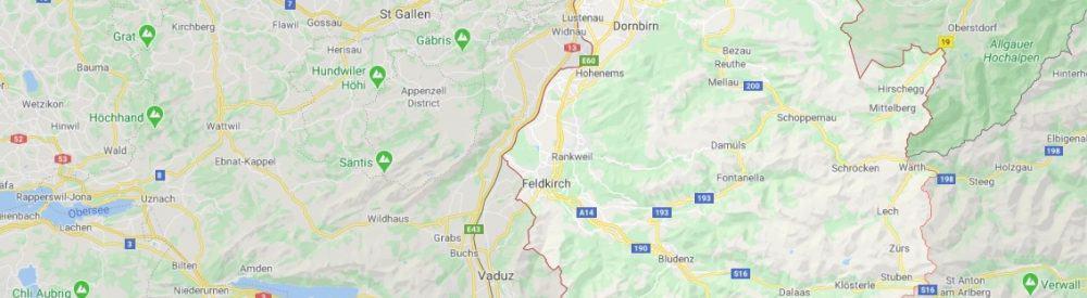 Maps - where to find Vorarlberg Austria