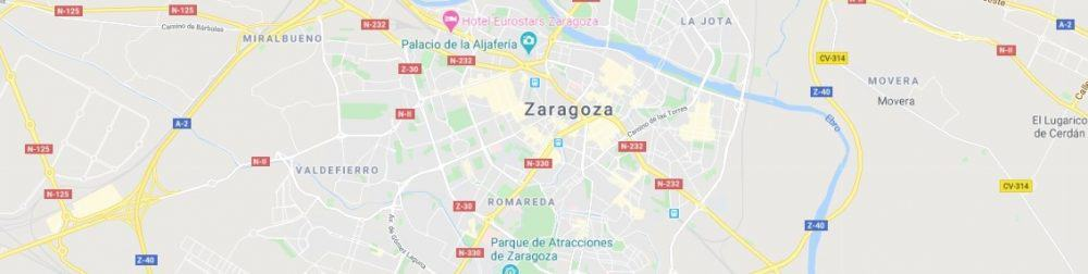 Map - where to find Zaragoza in Spain
