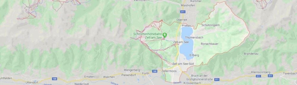 Map - where to find Zell am See