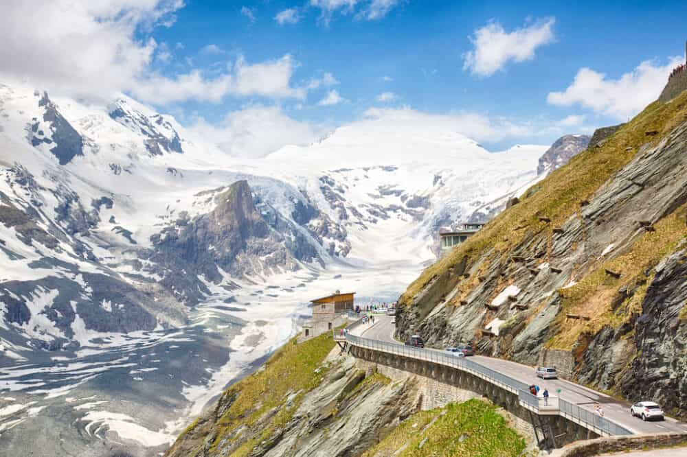 Beautiful views of Grossglockner Road Austria