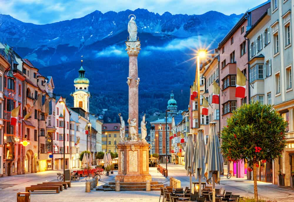Innsbruck main street - stunning places to explore in Austria