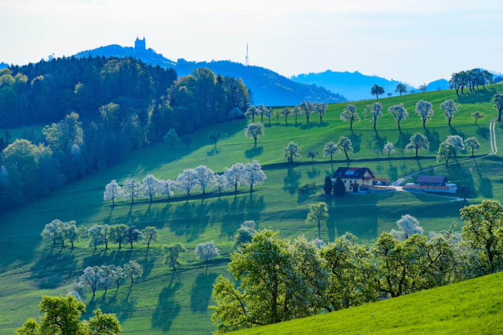 Pretty landscapes of Mostviertel Austria