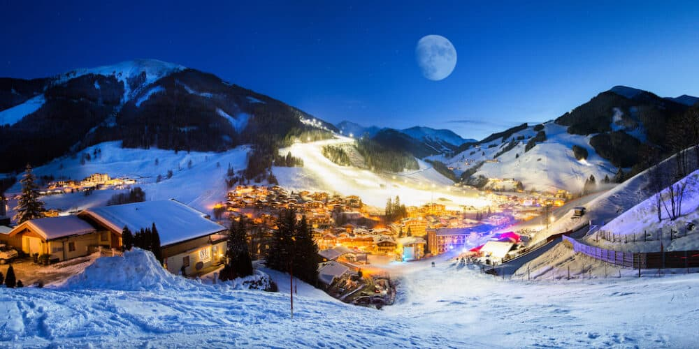 The beautiful resort of Saalbach-Hinterglemm Austria