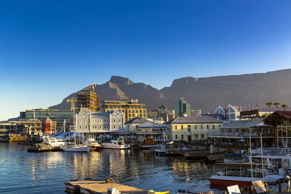 The waterfront in Cape Town