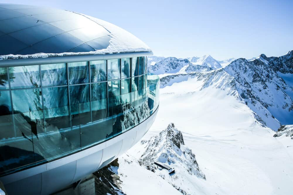 Cafe 3440 on the Pitztal Glacier in Tirol Austria