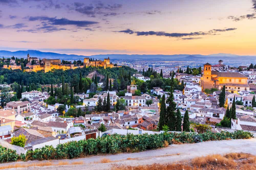 Beautiful Granada views in Spain