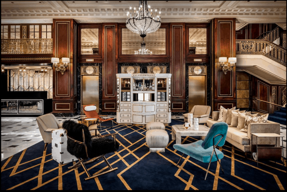 The Blackstone - an ornate and romantic Chicago hotel