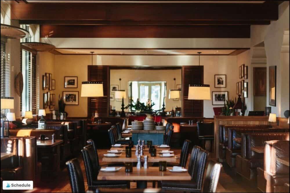 Romantic hotel dining room Santa Barbara