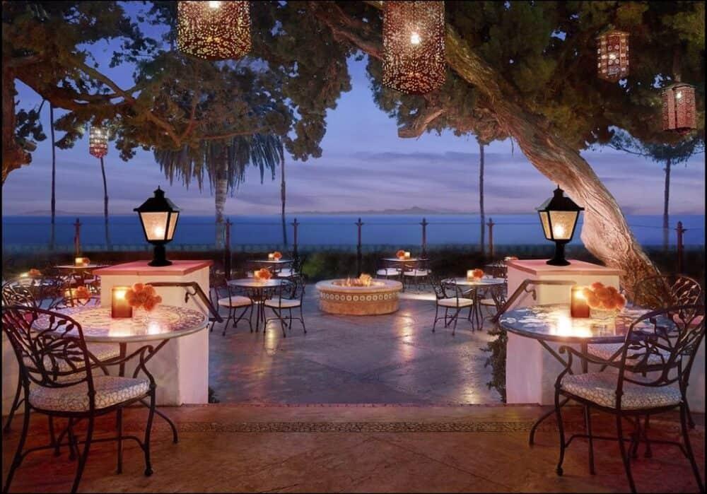 Romantic hotel garden Santa Babara