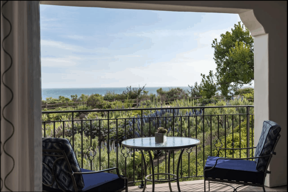 Romantic hotel view Santa Barbara