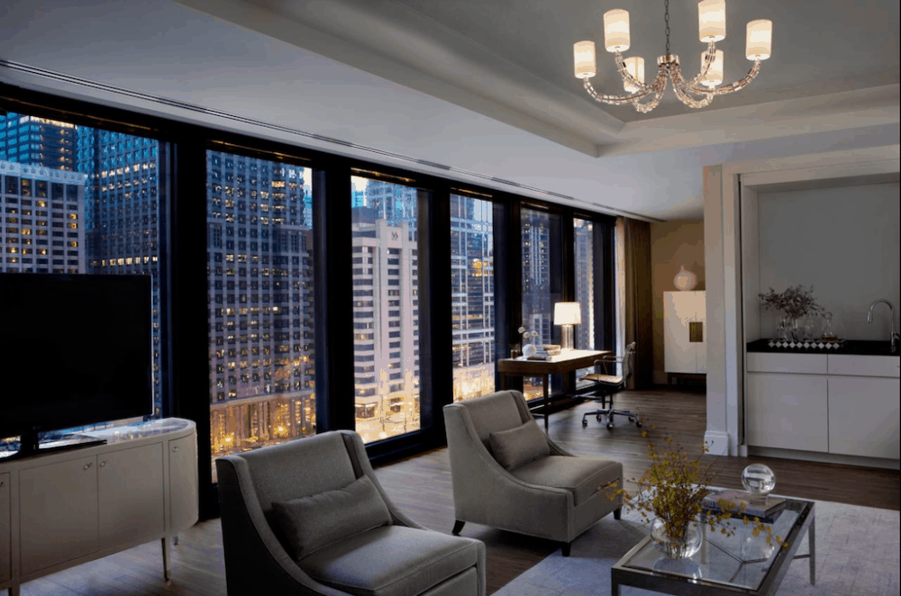 A hotel in Chicago for chic and romantic city break