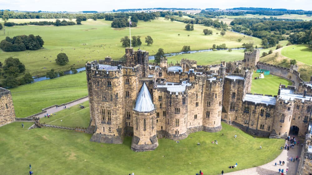 Alnwick Castle - the best places to visit in Northumberland